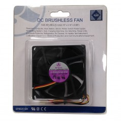 Bi-Sonic SP802512M 80mm DC Brushless fans. Retail Packaging.