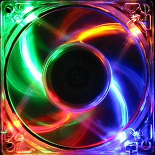 led colour computer fan