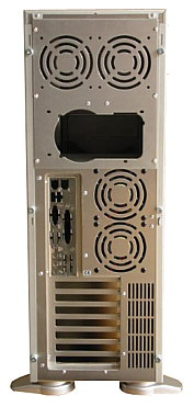 PC70 Big aluminium ATX Tower back