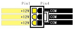 6pin pci express connector pinout