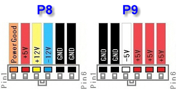 P8 P9 AT connector pinout