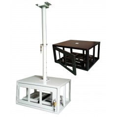 Anti theft projector security cage
